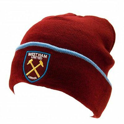West Ham United F.C. Knitted Hat TU Official Merchandise NEW