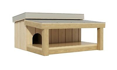 Dog House With Covered Porch Plans DIY Pet Puppy Outdoor Shelter Kennel Medium