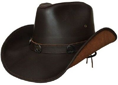 Lucky Trails Buffalo Brown Shapeable Handmade Leather Western Cowboy Hat bf3aaebe5fc3