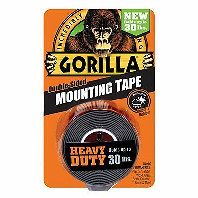 """Gorilla Glue Heavy Duty Mounting Tape, Black"""