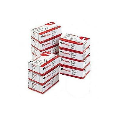 Universal Paper Clips Silver 100 Per Box or 10 Boxes Per Pack