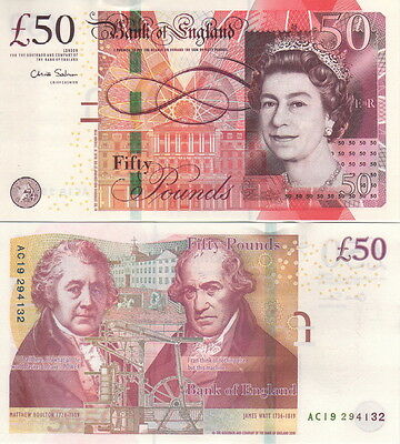 Great Britain / Bank Of England 50 Pounds 2010 Chris Salmon P 393 Design Unc