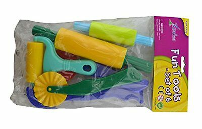 Six Piece Dough and Clay Tool Set [Toy]
