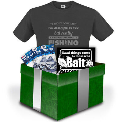 BIRTHDAY Gift Pack 'Thinking About Fishing' T-Shirt by Big Kippers | FREE p&p