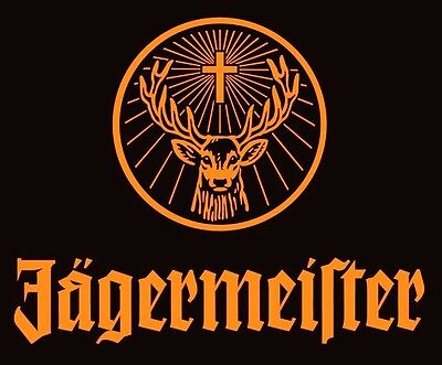 Jagermeister stag STICKER. Party for your bong. 2.5 x 3 inch