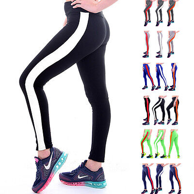 Womens Yoga Fitness Leggings Running Gym Stretch Trousers Sports Pants Exercise