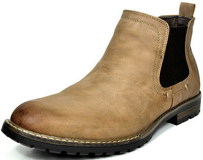 BRUNO MARC MODA ITALY PHILLY-2 Men's Casual Slip On Chelsea Ankle boots