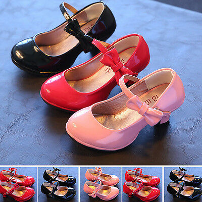 New 2016 Fall Kids Toddlers Girls Bling Dresses Princess Sweet High-heeled Shoe