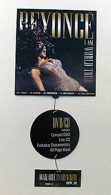 BEYONCE - I Am... World Tour / PROMO 2-Sided Mobile