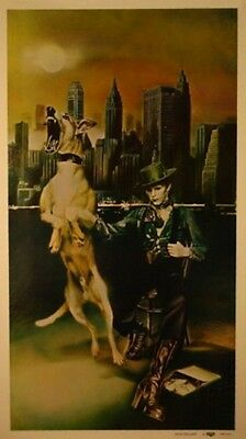 David Bowie 1974 Unreleased Diamond Dogs Tour Promo Poster