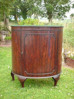 Vintage  Mahogany Bow Fronted Standing  Cabinet