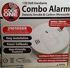 Code One Kn-Cosm-Iba Hardwired Combination Smoke And Carbon Monoxide Alarm