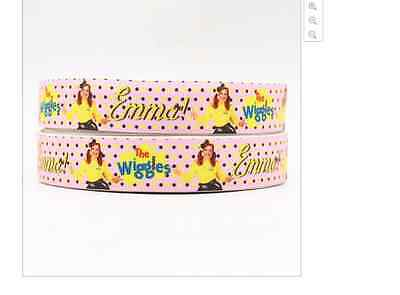 Emma Ribbon 1m long 7/8' 22mm wide The Wiggles Polka Dots