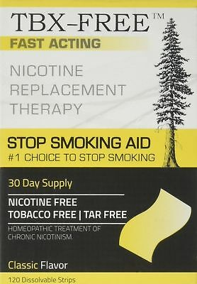 TBX-FREE Stop Smoking Oral Strip Aid 120 Strips (Classic) Classic