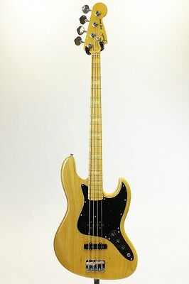 Fender Japan JB75 Jazz Bass Natural Ash Body Used Electric Bass Guitar Deal F/S