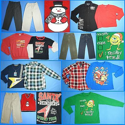 15 Piece Lot of Nice Clean Boys Size 7 Fall School Winter Everyday Clothes FW167