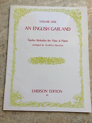 An English Garland For Flute *NEW*  By Geoffrey Emerson