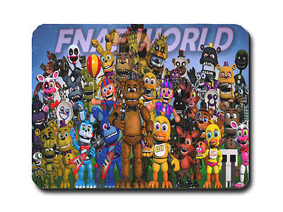 Five Nights At Freddys Mousemat/pad Pc Computer  Video Game (Freddy World)