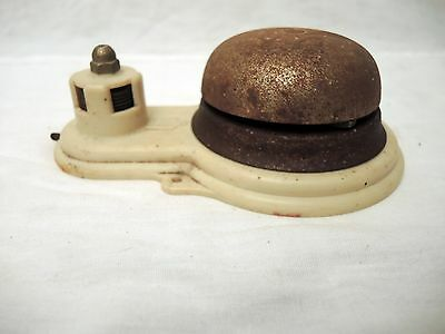 Antique Twist Wind Door Bell Ringer Inside Mount With Extra Bell For Parts