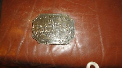 Vintage American Express Wells Butterfield & Co Brass Solid Belt Buckle