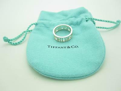 New Tiffany & Co. Sterling Silver Wide Atlas Open Band Ring Size 7