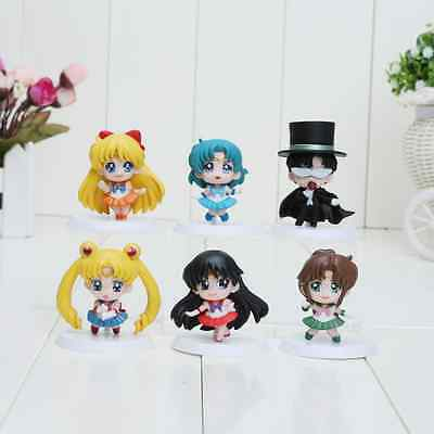 Anime Cartoon Sailor Moon Figure Set UK Stock