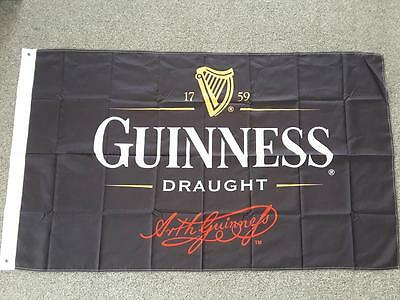 GUINNESS BEER FLAG IRISH- 90cm x 150cm BAR FLAGS WITH GROMMETS MAN CAVE
