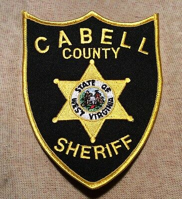 WV Cabell County West Virginia Sheriff Patch (GD)