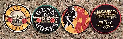 Set Of 4 Guns 'n Roses Souvenir Poker Chips    All Different Styles.