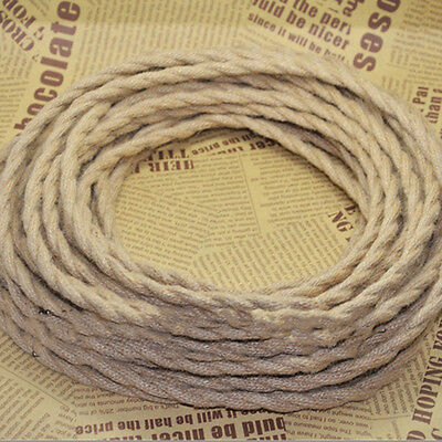 5M Vintage Rope Wire Twisted Cable Retro Braided for DIY Pendant Lamp