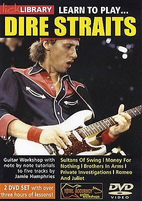 Lick Library: Learn To Play Dire Straits. Guitar 2 x DVD (Region 0)