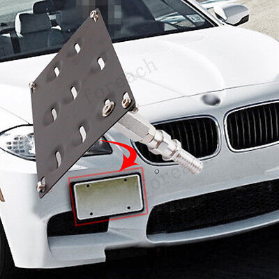 Front Bumper Tow Hook License Plate Mounting Bracket For BMW E82 E90 E92 X5 X6