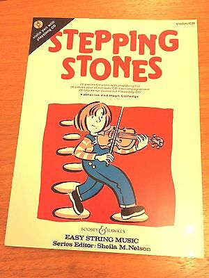 Stepping Stones For Violin Book 1 With CD By Sheila Nelson *NEW*