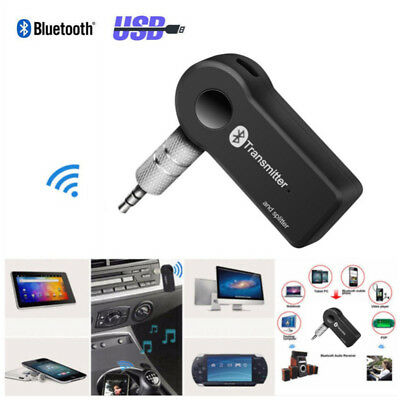 Bluetooth V4.0 A2DP Wireless Transmitter Audio 3.5mm Receiver Adapter Car Kit UK