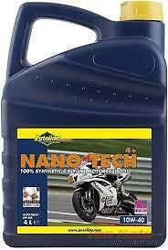 Putoline Nano Tech 4+ 10W40 4 Stroke Road Racing Oil 4 Litres 100% Synthetic