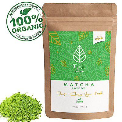 ORGANIC Japanese Matcha Green Tea Powder - Latte - Up to 200 Serves