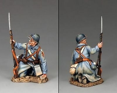 King And Country  Ww1 Military French Crouching Wounded  1.30 Scale   Fw154