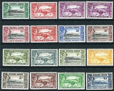 SIERRA LEONE-1938-44  An unmounted mint set to £1 Sg 188-200