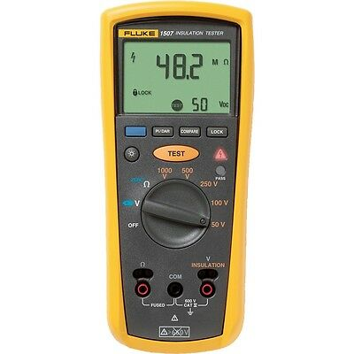 Fluke 1507 Insulation Tester Capable of Reading Resistance from 0.01? to 20.00k?