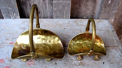 Miniature Vintage Claw Foot Log / Match Holders Home & Garden Hearth Fireplace