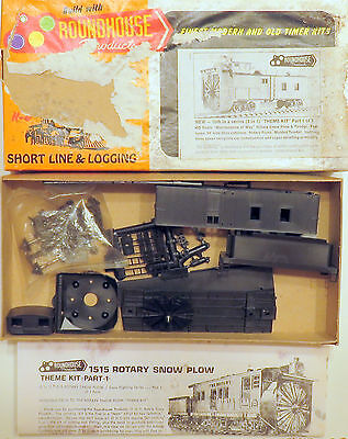 MOW TRAINS HO Roundhouse 1515 3-in-1 Rotary Snowplow/Tender Kit Work Train MWKD5