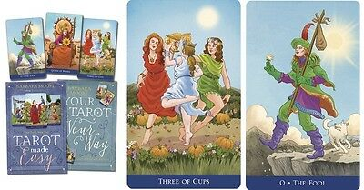 Tarot Made Easy NEW Sealed Set 78 Color Cards 216 Book B.Moore Eugene Smith art
