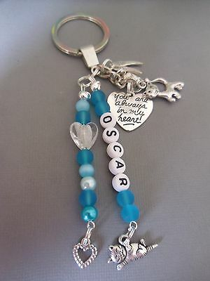 Loss of cat memorial key/bag charm, personalised free