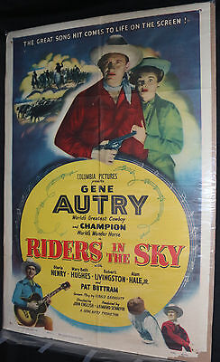 Riders in the Sky Movie Poster - Gene Autry - Western Cowboy (C-5) 1949