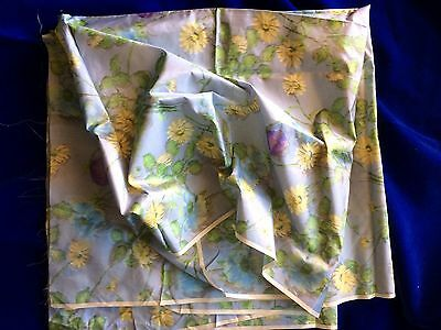 Antique Vtg Watered Silk Taffeta Panel Shabby Paris Apt French Floral