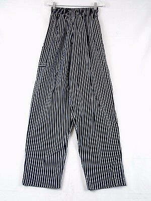 Univogue Unisex Black Stripe Executive Baggy Chef Pants X-Large #1844 223D