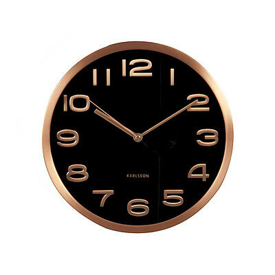 Karlsson Clock - Maxie Design, Black and copper Wall clock