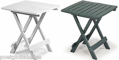 Garden Side Table Patio Folding Foldable Balcony Furniture Outdoor White Green
