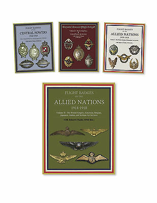 WWI (1914-1918) Central Powers & Allies Flight Badges, 4 Book Set