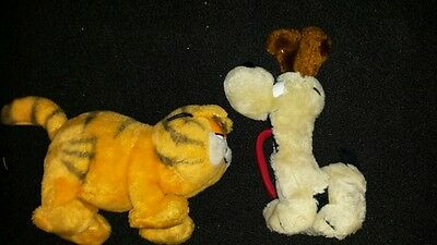 Vintage Garfield and Odie Plush toys animals